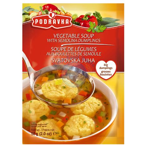 Podravka Vegetable Soup With Dumplings 58g - Euro Food Deals