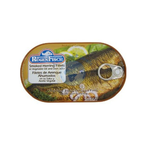 Rugenfisch smoked herring fillets 190g euro food deals for Smoked herring fish
