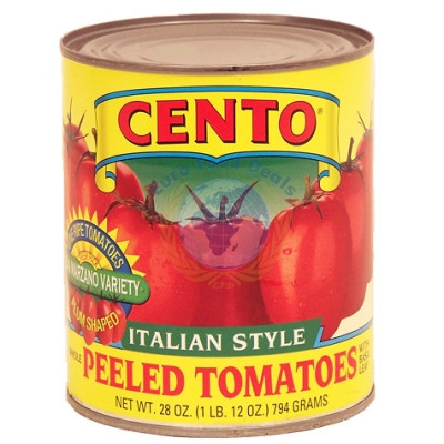 CENTO PEELED TOMATOES 28oz.