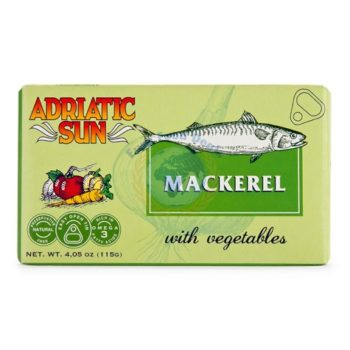 Adriatic Sun Mackerel With Vegetables 115g