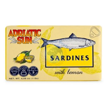 Adriatic Sun Sardines With Lemon 115g
